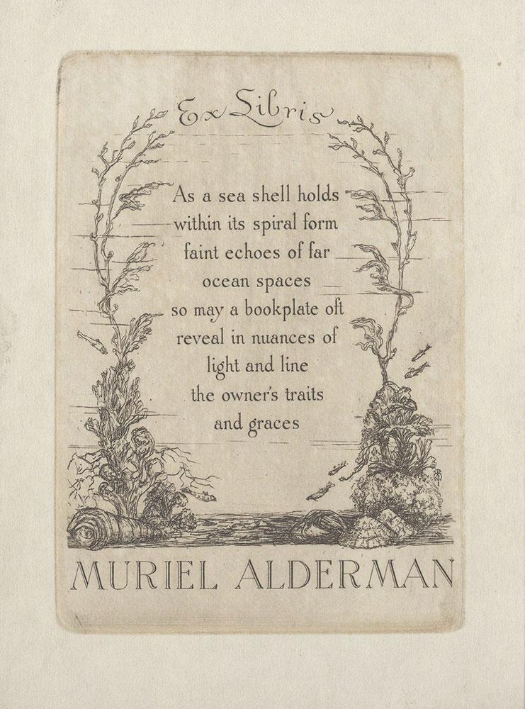 Bookplate for Muriel Alderman