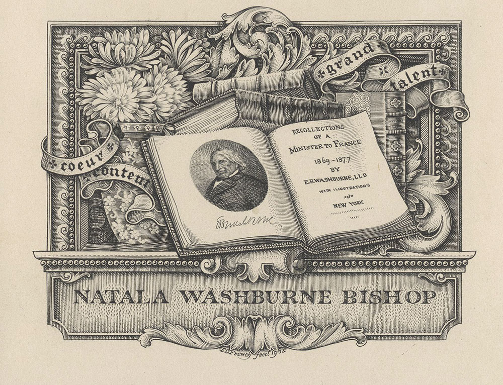 Bookplate for Natala Washburne Bishop