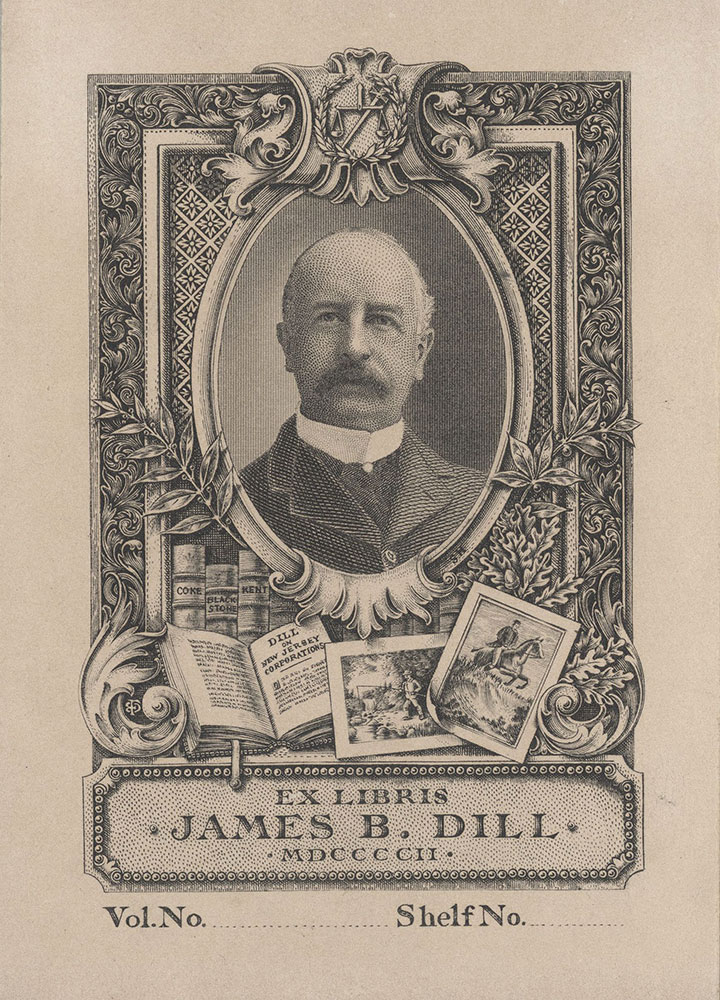 Bookplate for James B. Dill