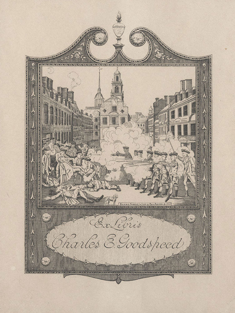 Bookplate for Charles E. Goodspeed