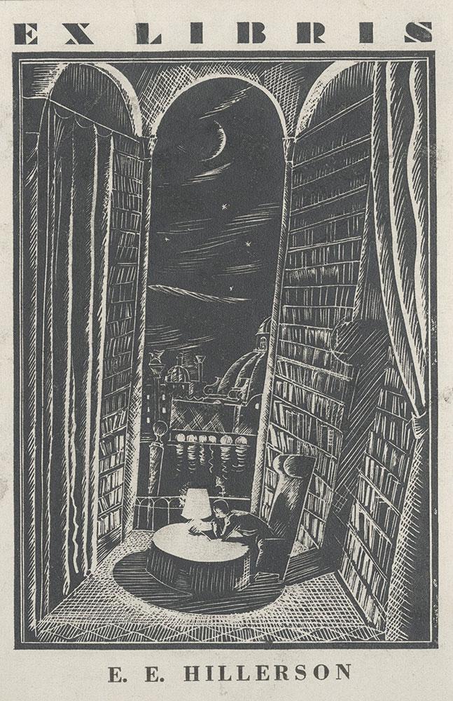 Bookplate for E. E. Hillerson