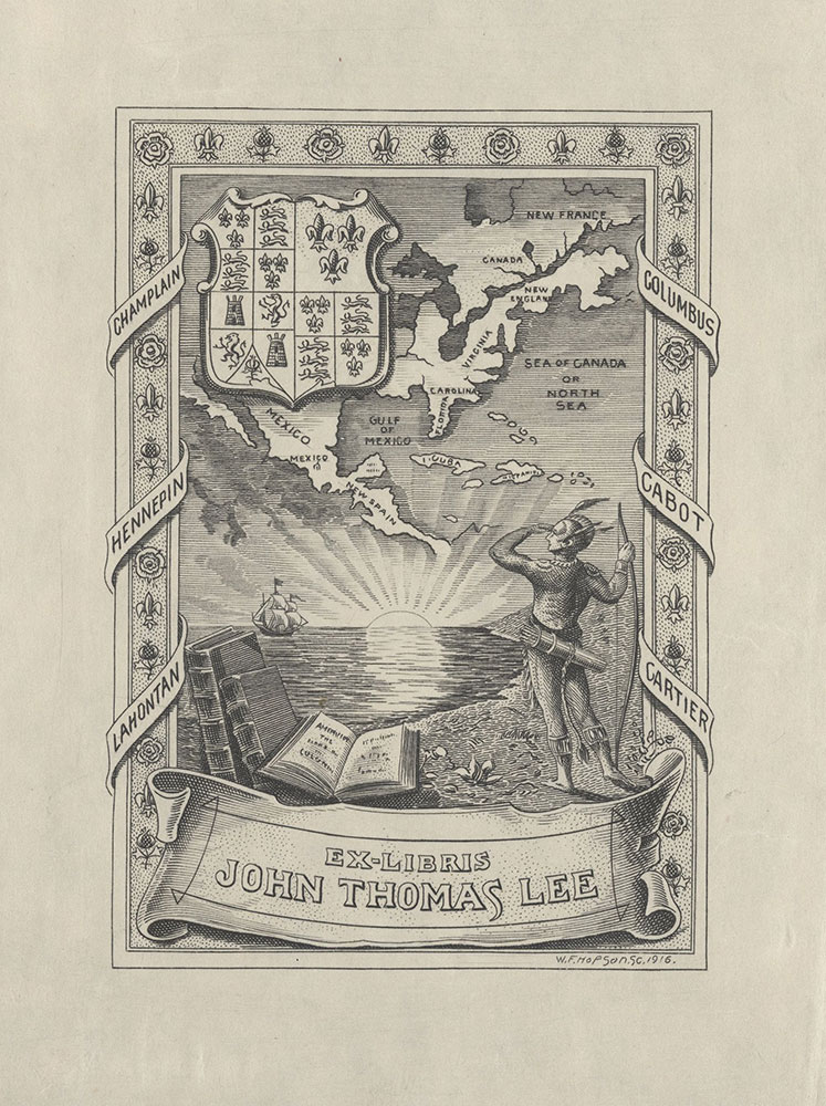 Bookplate for John Thomas Lee