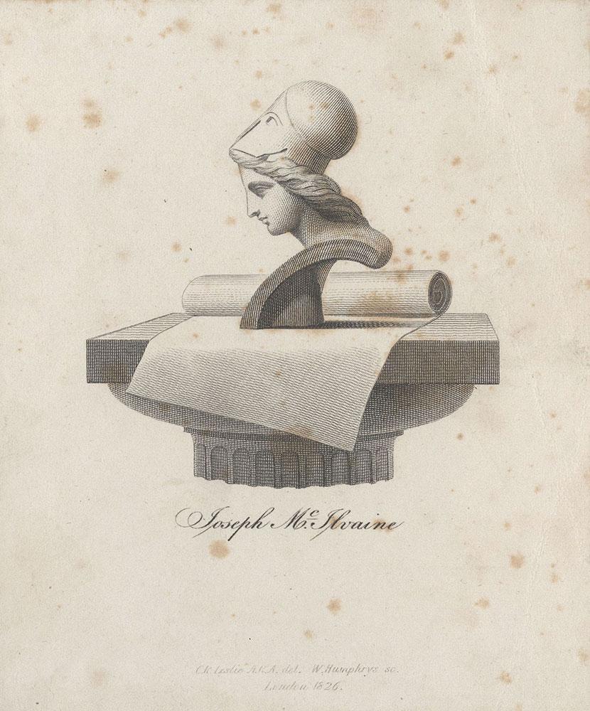 Bookplate for Joseph McIlvaine