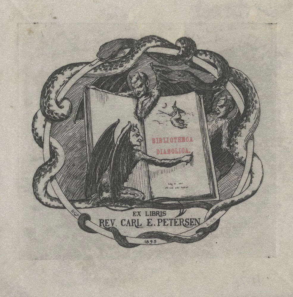 Bookplate for Rev. Carl E. Petersen