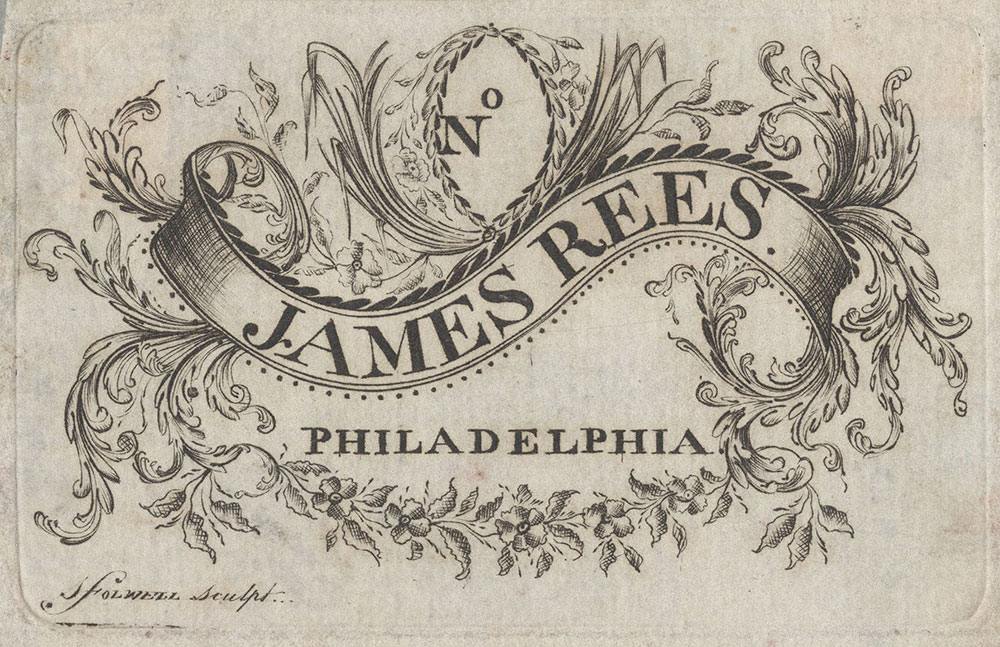 Bookplate for James Rees