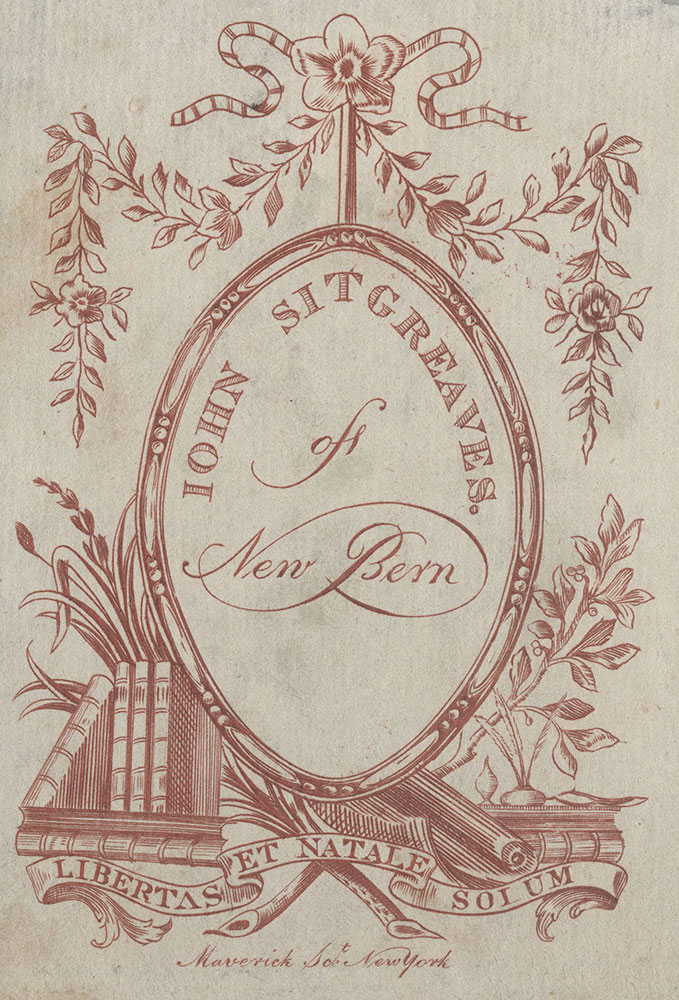 Bookplate for John Sitgreaves