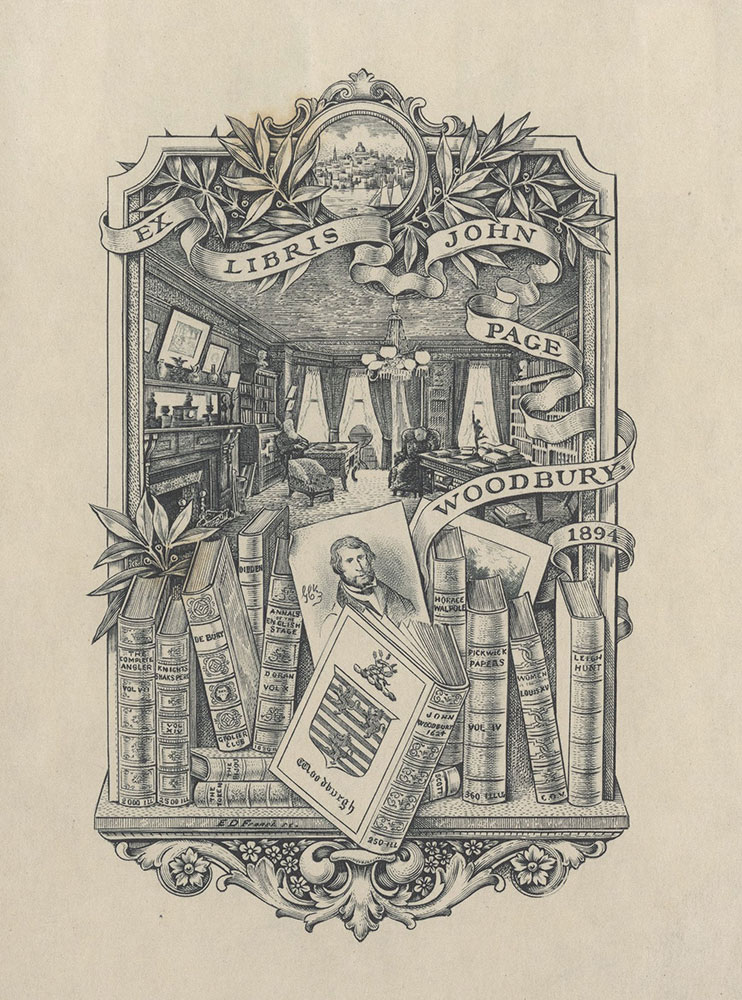 Bookplate for John Page Woodbury