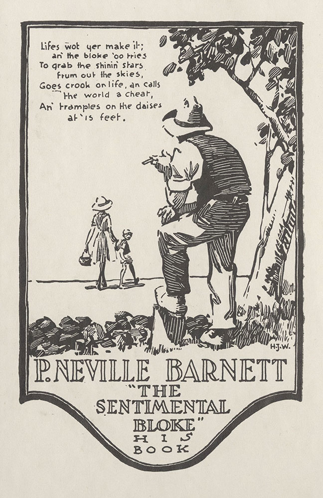 Bookplate for P. Neville Barnett