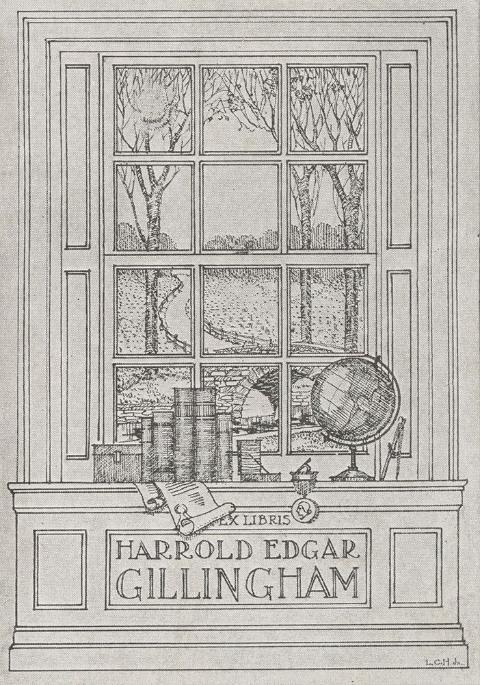 Bookplate for Harrold Edgar Gillingham