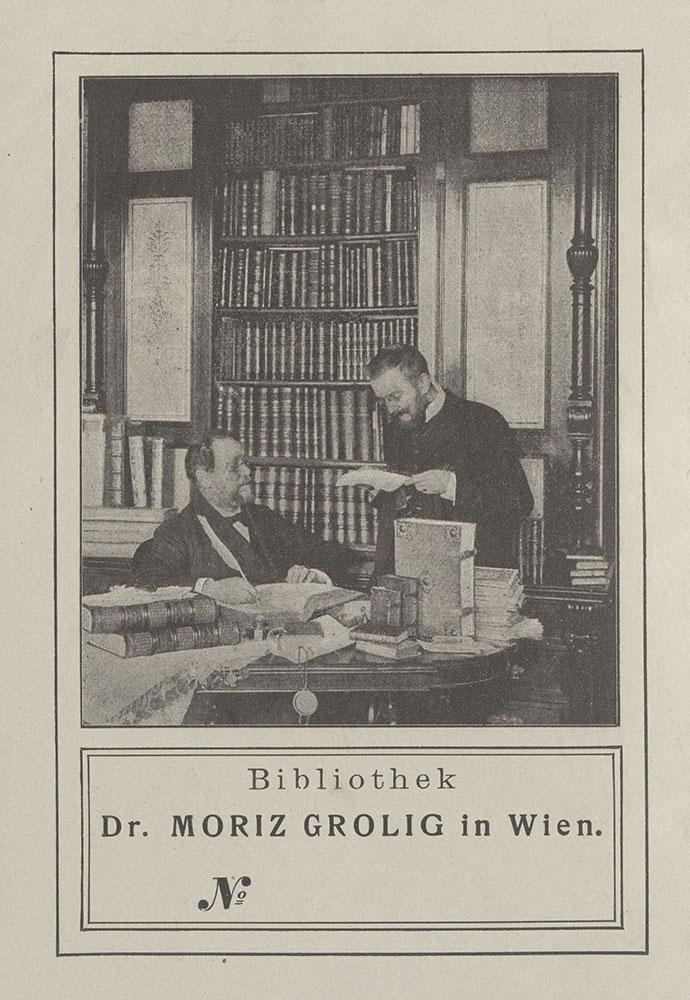 Bookplate for Moriz Grolig