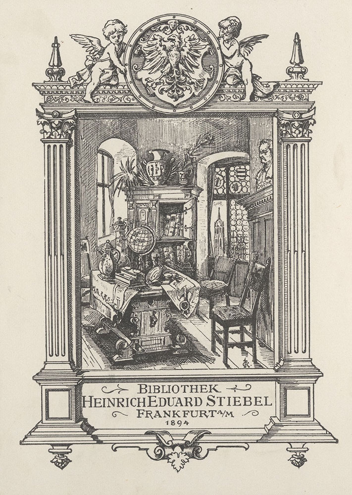 Bookplate for Heinrich Eduard Stiebel