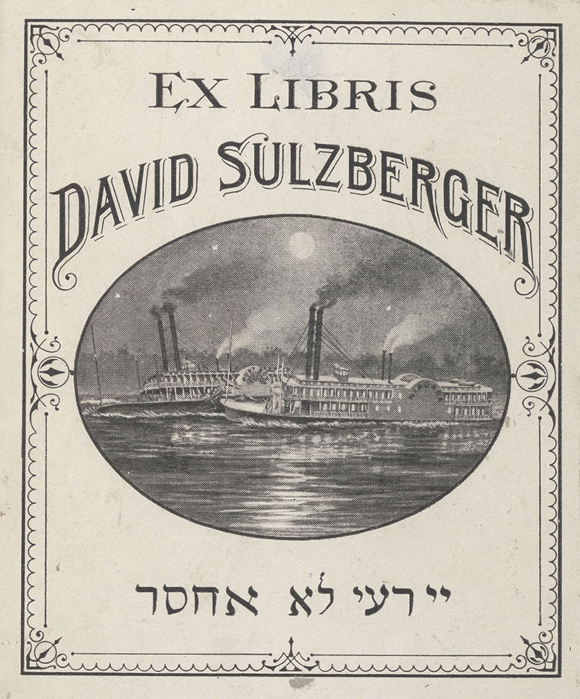 Bookplate for David Sulzberger