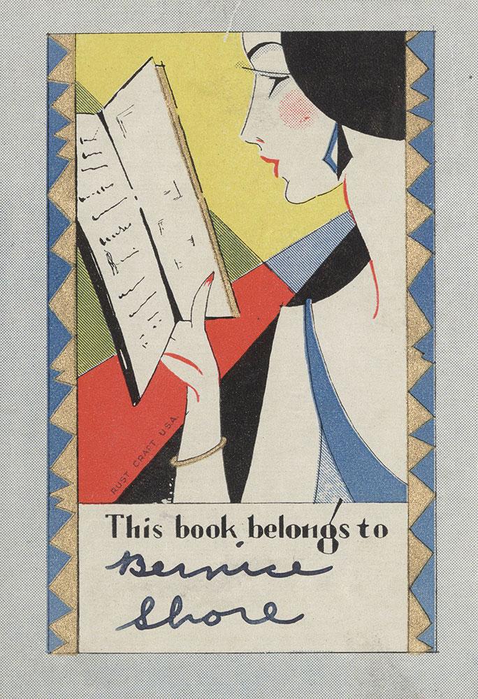 Bookplate for Bernice Shore