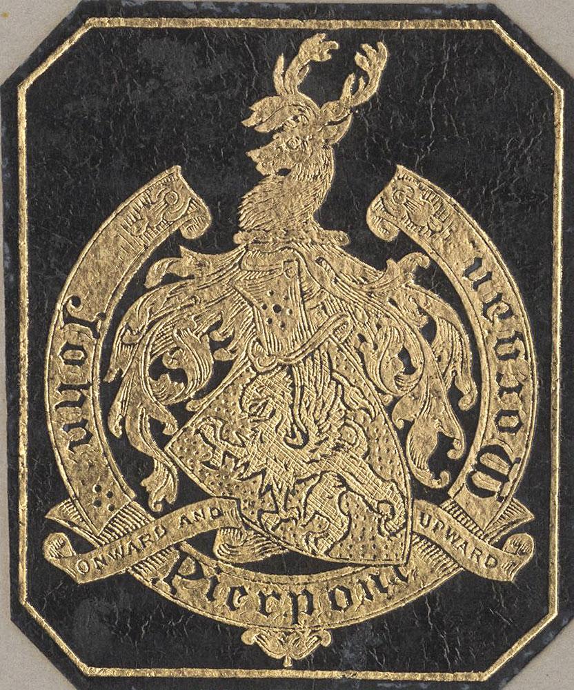 Bookplate for John Pierpont Morgan