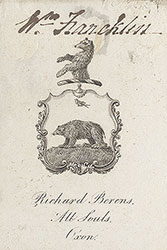 Bookplate for Richard Berens