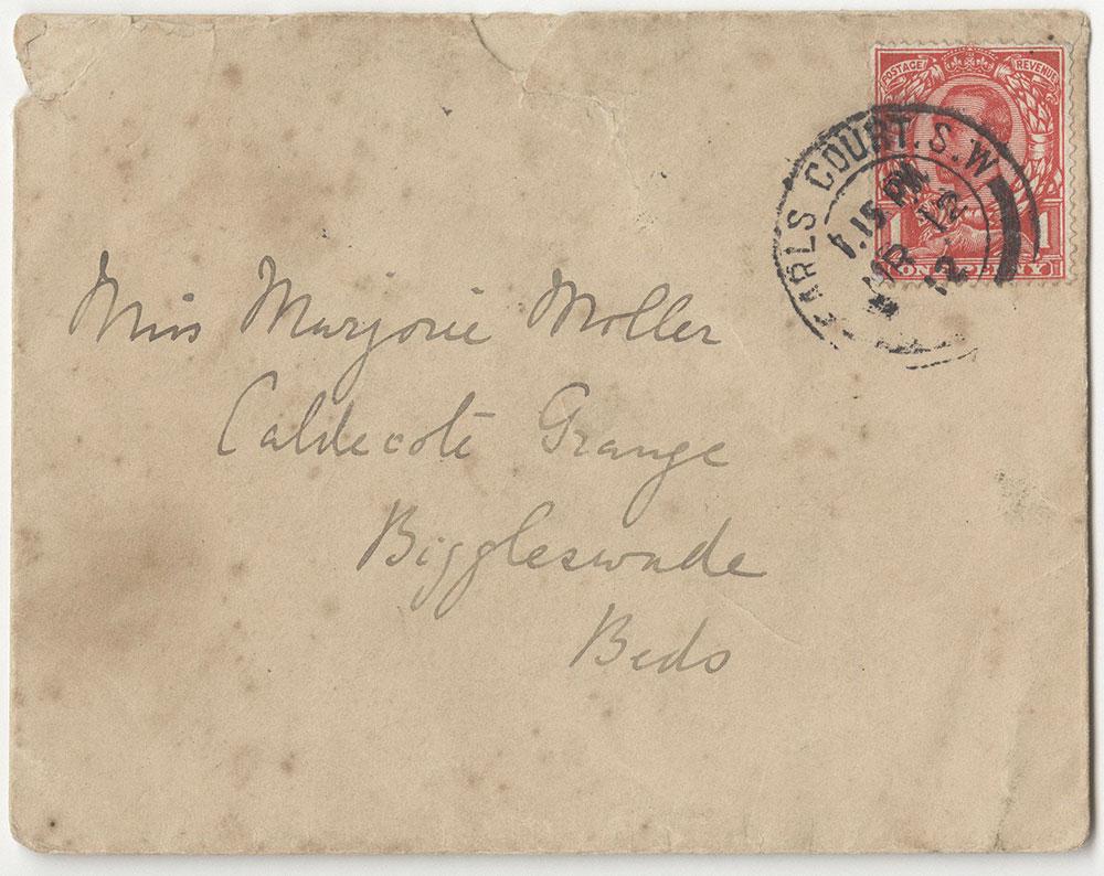 Envelope for miniature letters sent by Beatrix Potter