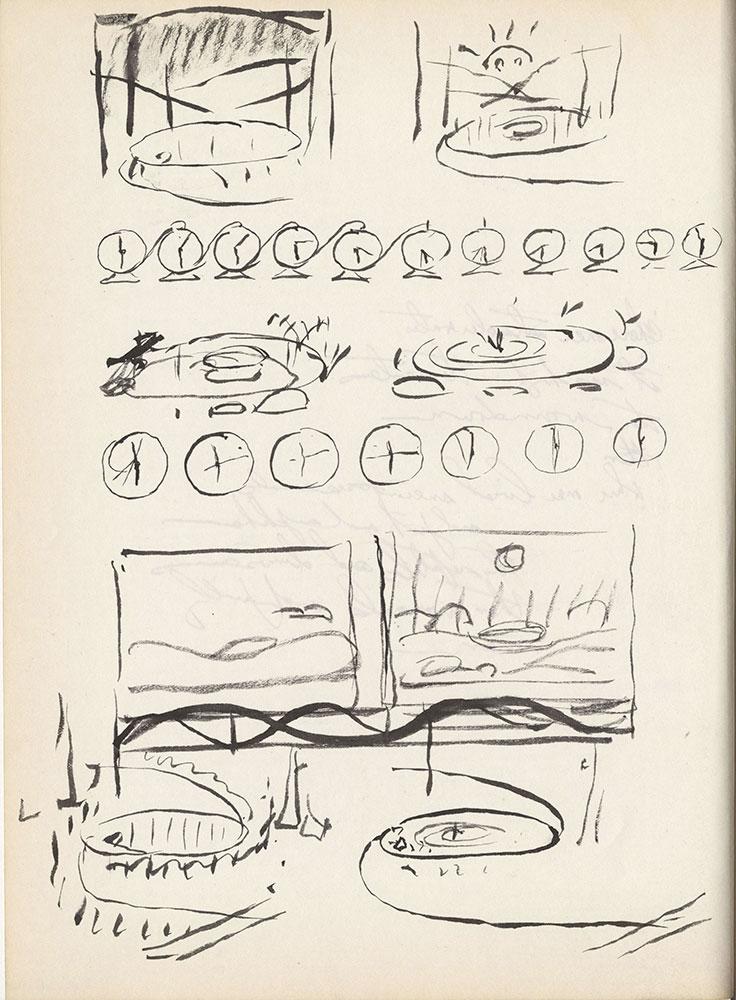 Black sketchbook for Life Story, page 170