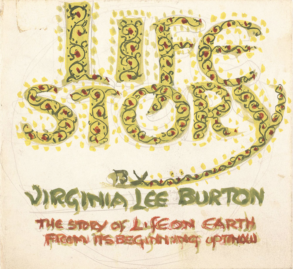 Preliminary art for cover of Life Story