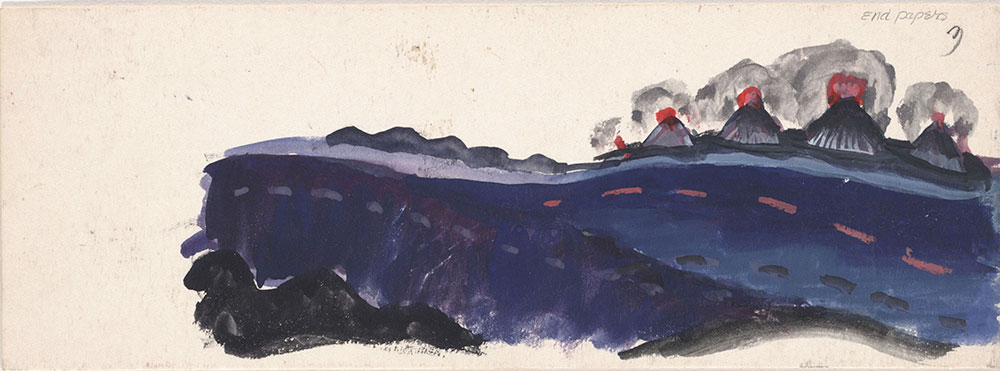 Sketch of volcanic eruptions, for Life Story