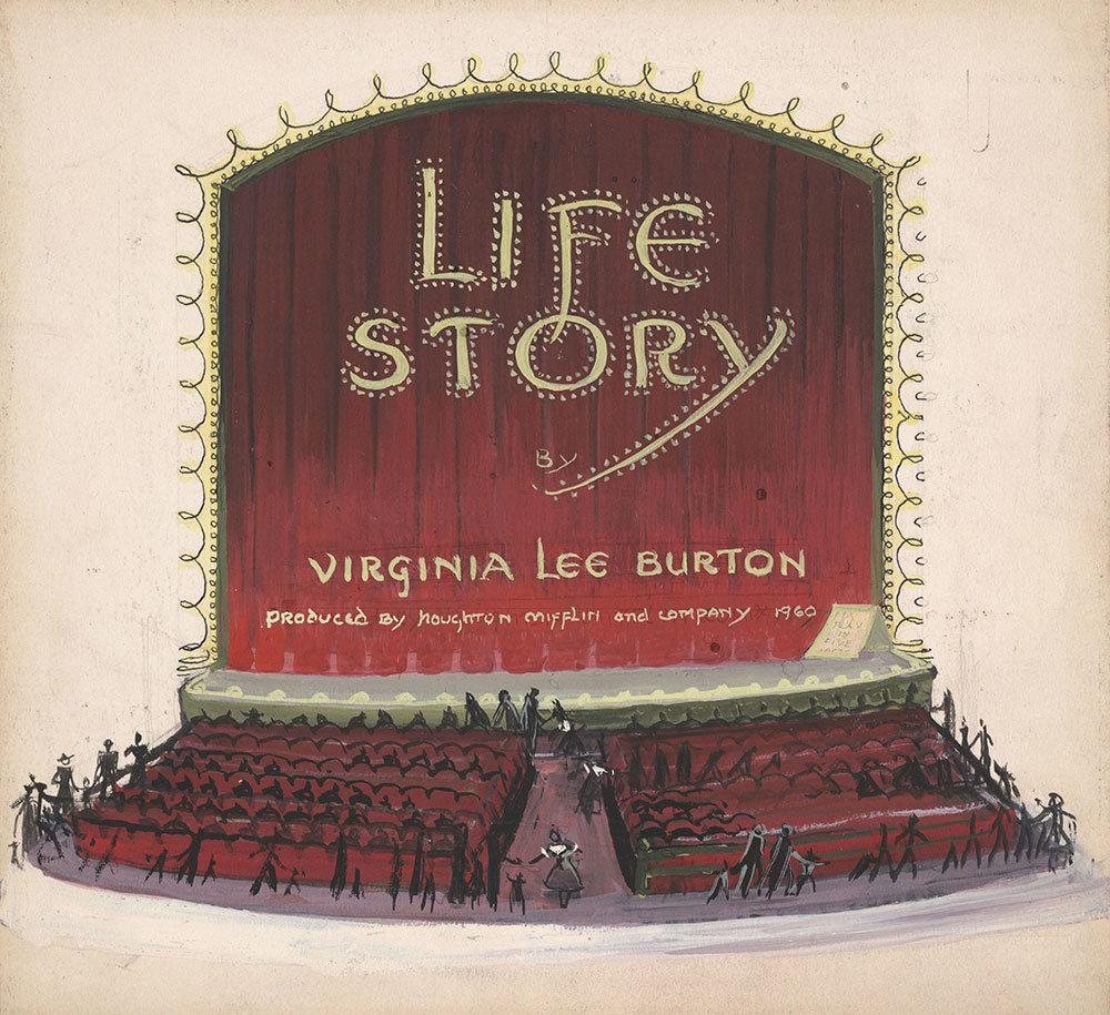 Preliminary art for title page of Life Story