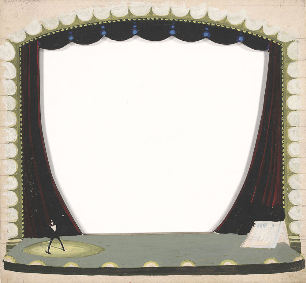 Preliminary art of stage, for Life Story