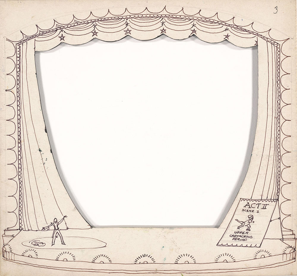 Preliminary art for Life Story, Act II, Scene 3