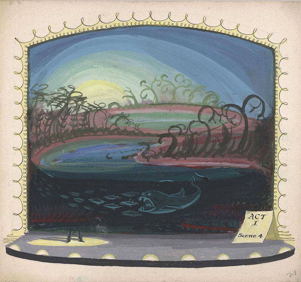 Preliminary art for Life Story, Act I, Scene 4