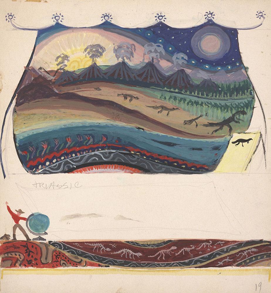 Preliminary art for Life Story, Act II, Scene 1