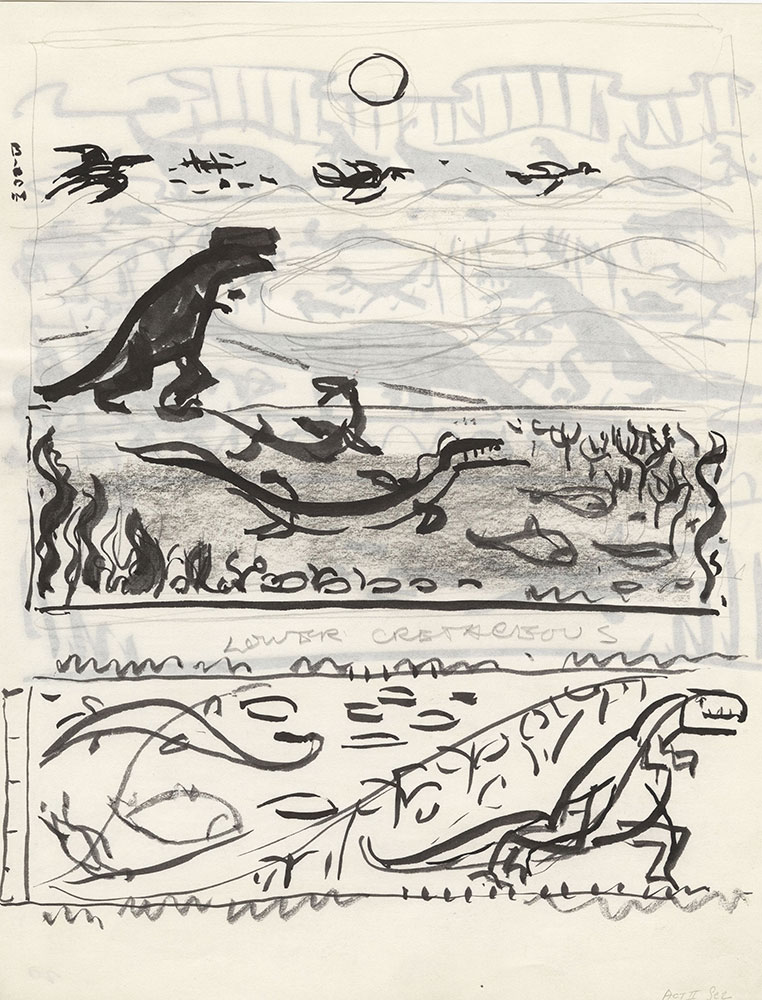 Preliminary art for Life Story, Act II, Scene 2