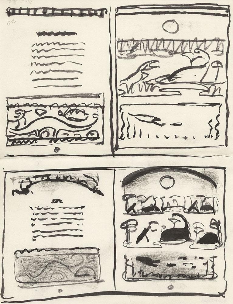 Preliminary art for Life Story, Act II, Scene 2