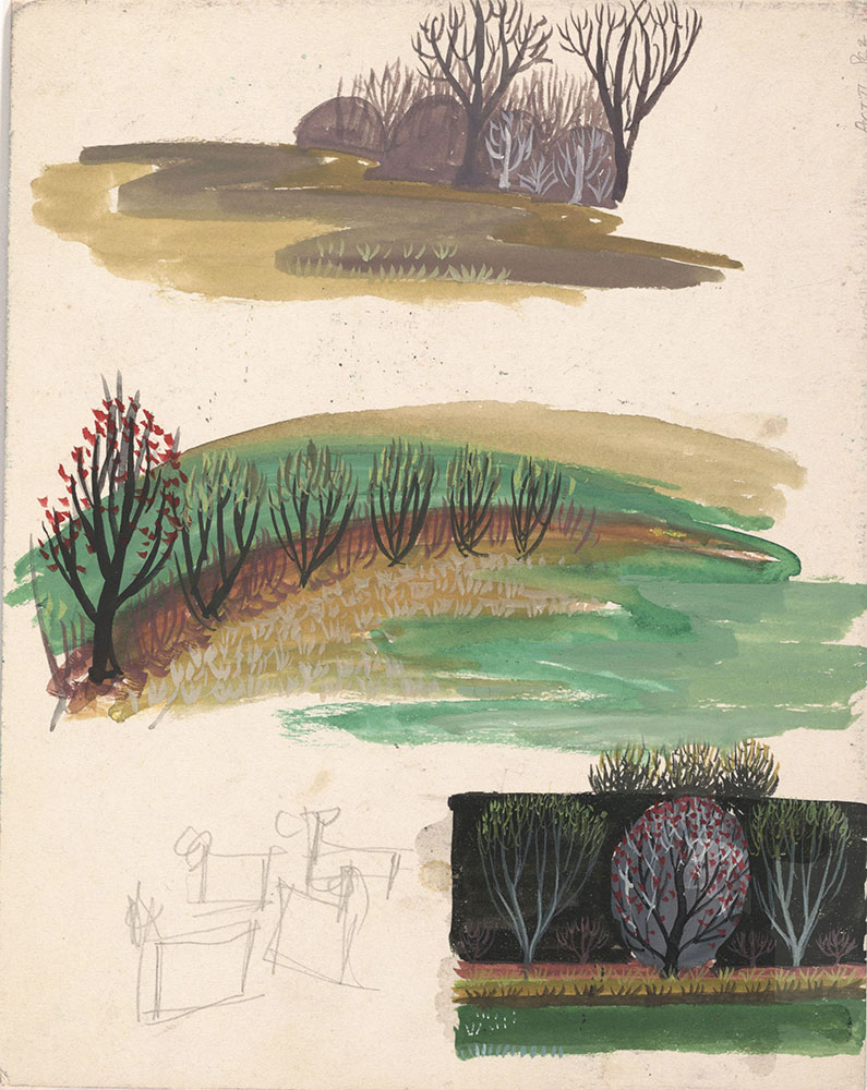 Preliminary art of trees, for Life Story