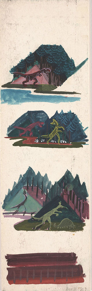 Preliminary art for Life Story, Act II, Scene 3