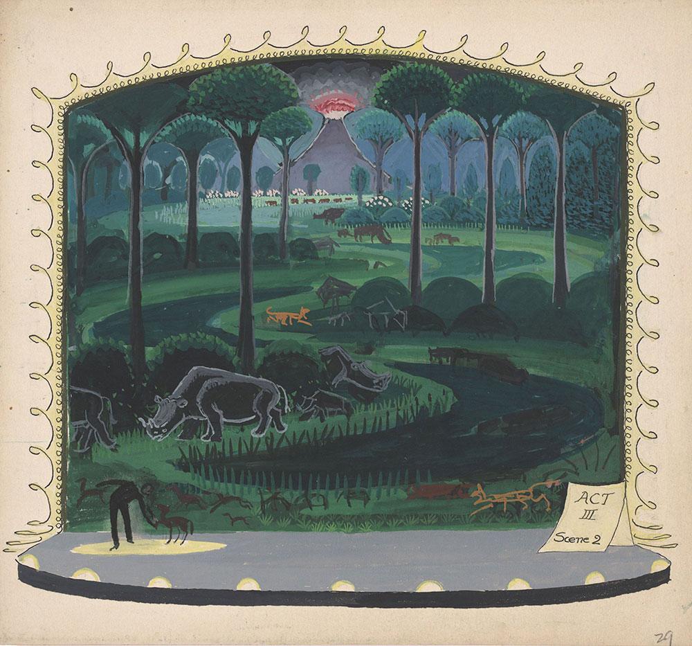 Preliminary art for Life Story, Act III, Scene 2