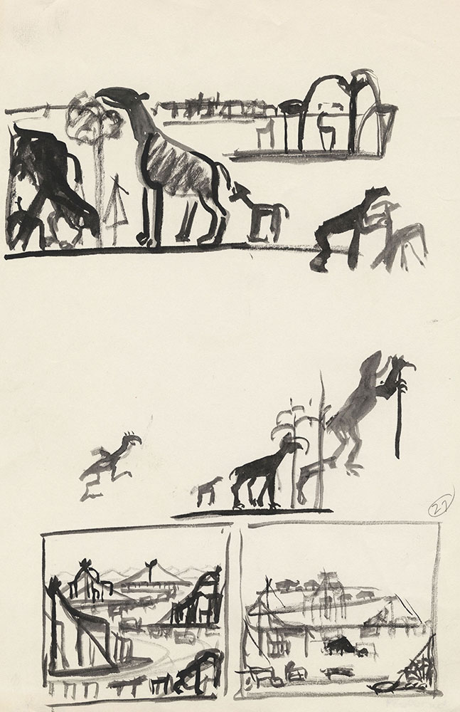Preliminary art for Life Story, Act III, Scene 3