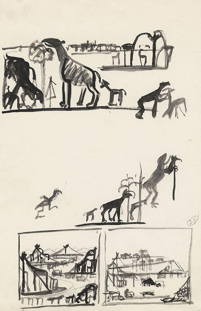 Preliminary art for Life Story, Act III, Scene 3