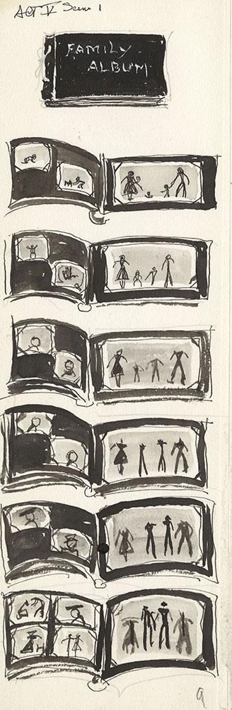 Preliminary art for Life Story, Act V, Scene 1