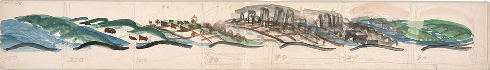 Preliminary art of landscape, for Life Story