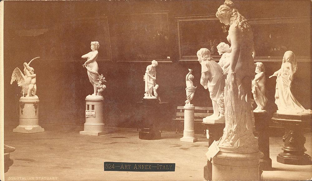 Group of Italian statuary in Art Annex