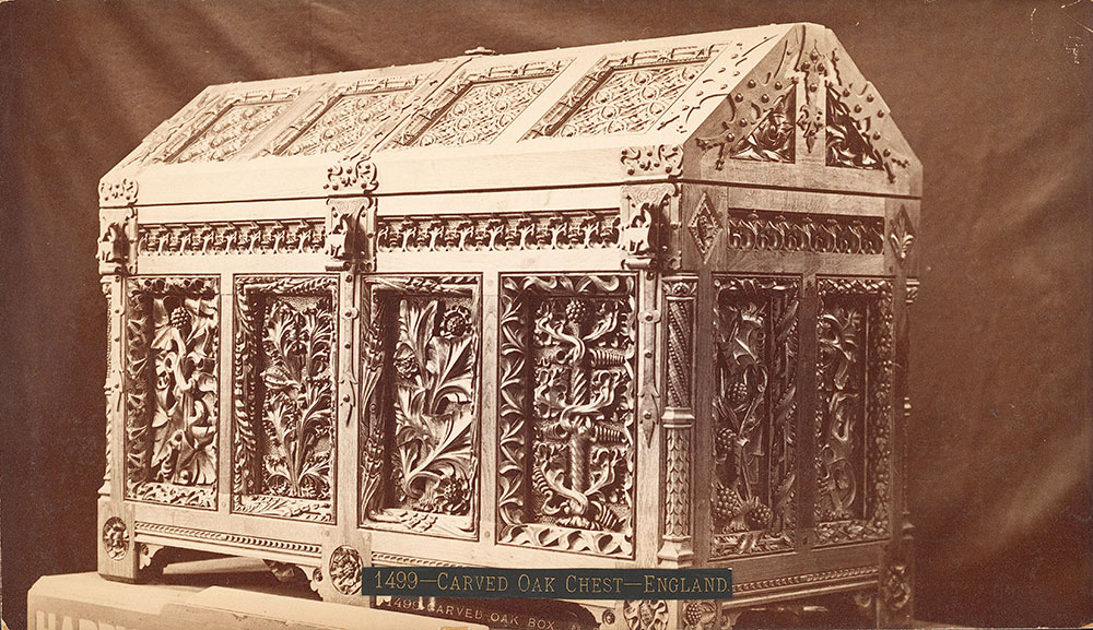 Carved oak box -- Main Building