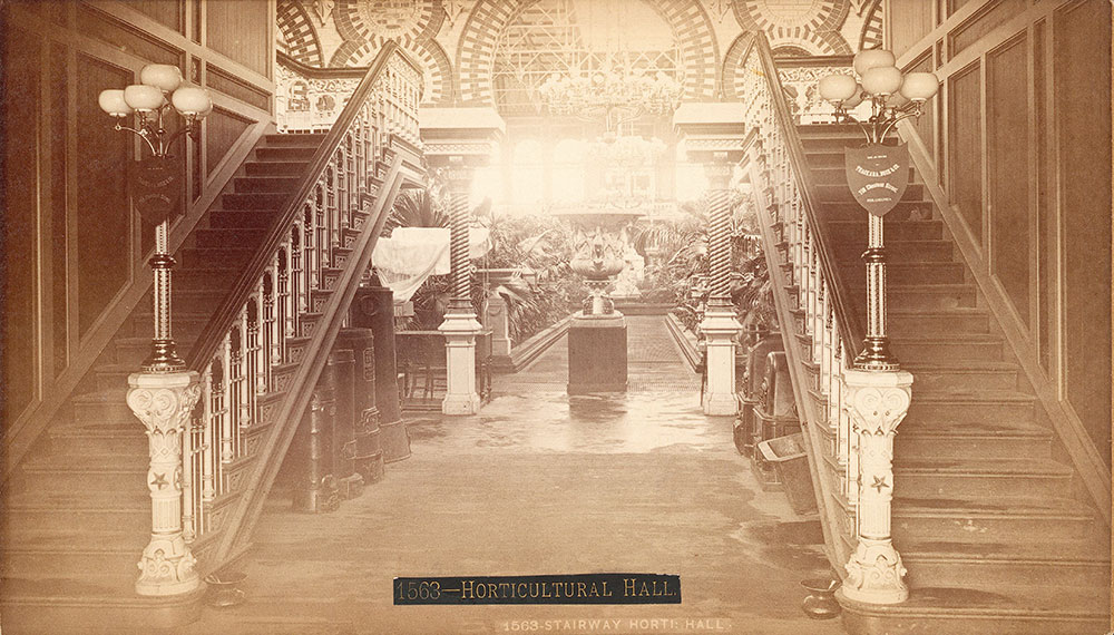 Stairway, Horticultural Hall -- for
