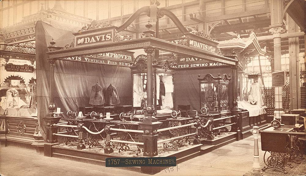 Davis Sewing Machine Co.'s exhibit--Mach. Hall