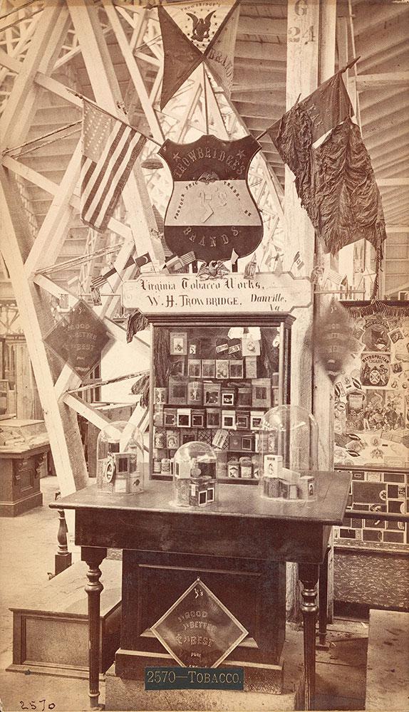 W.H. Trowbridge's exhibit--Agricultural Hall