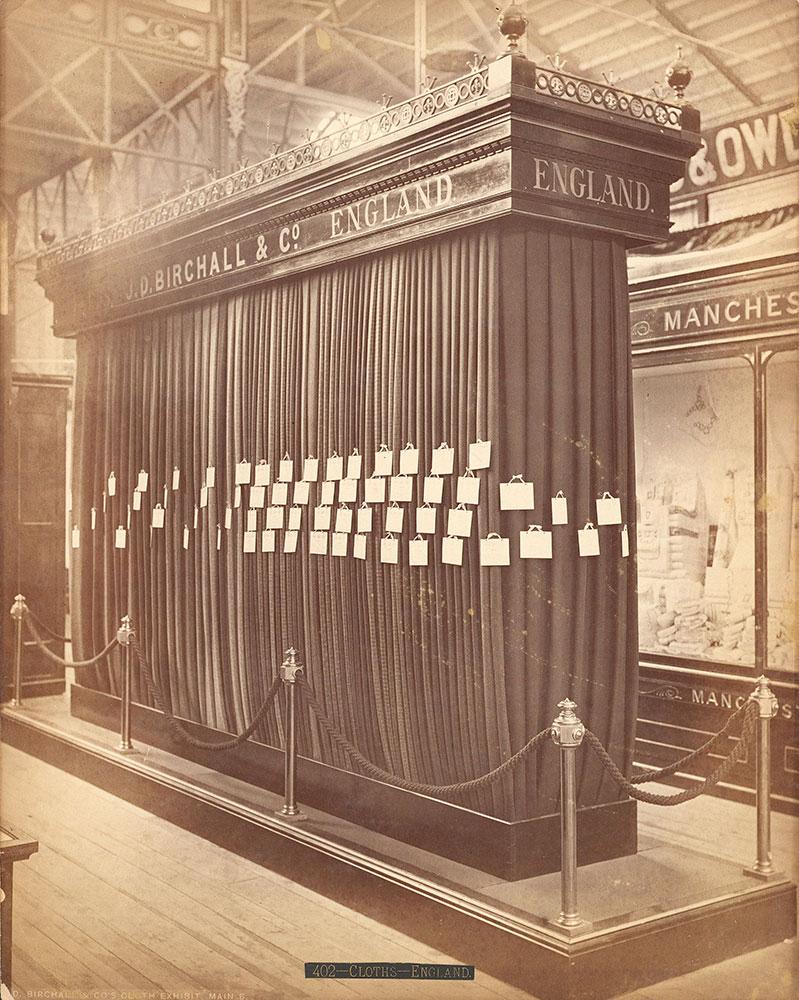 J.D. Birchall & Co.'s cloth exhibit
