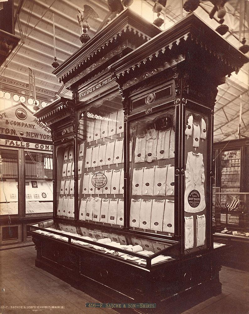 F. Sasche [sic] & Son's exhibit-Main Building
