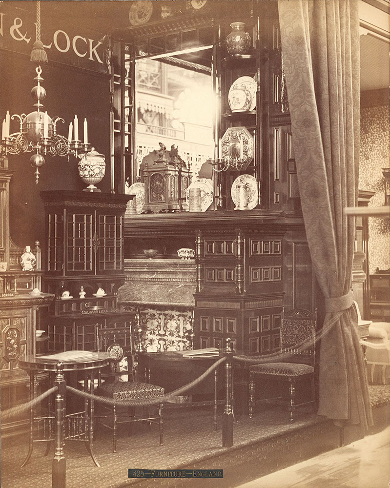 Collinson & Lock's furniture exhibit