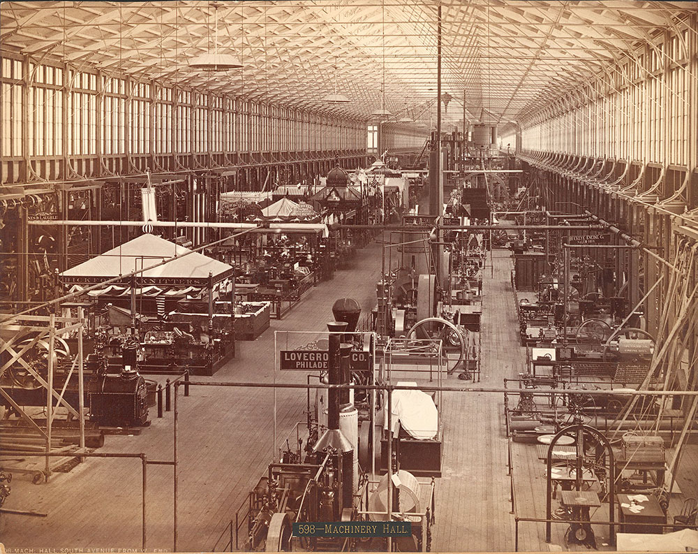 Machinery Hall-South Avenue from west end
