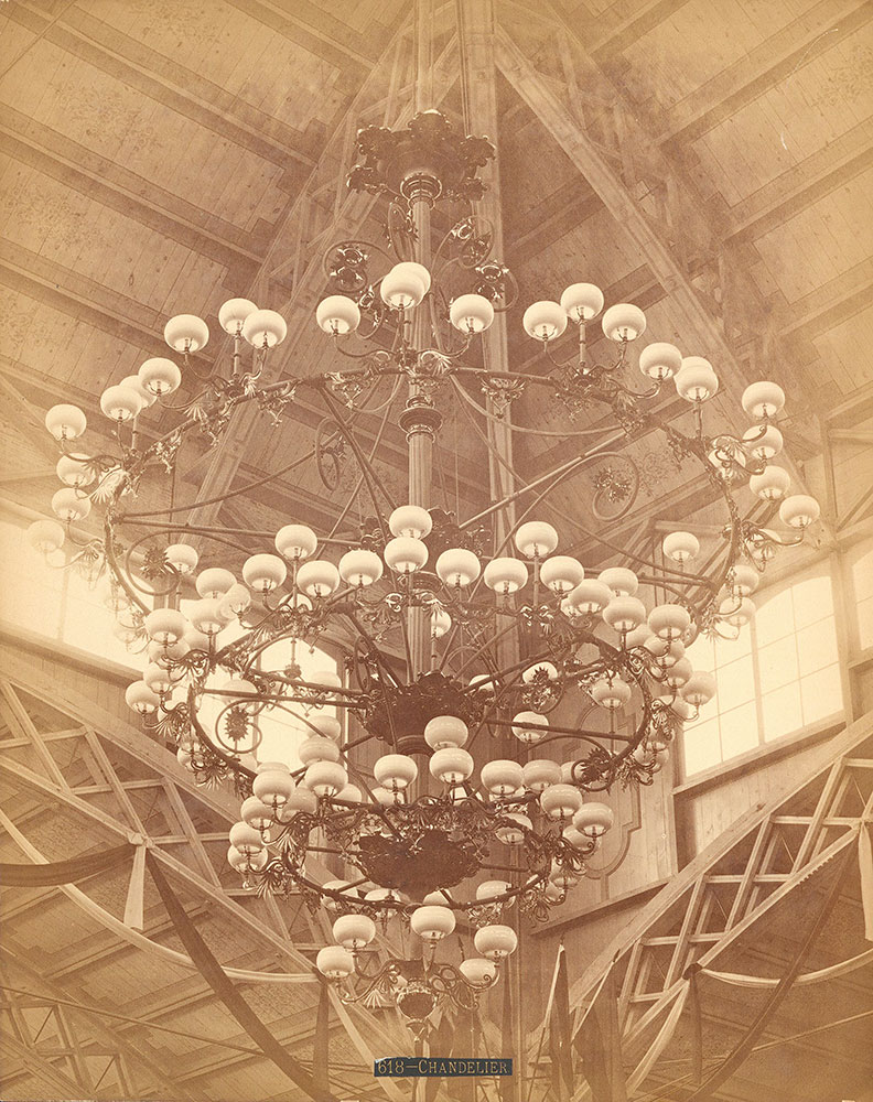Baker, Arnold & Co.'s large chandelier