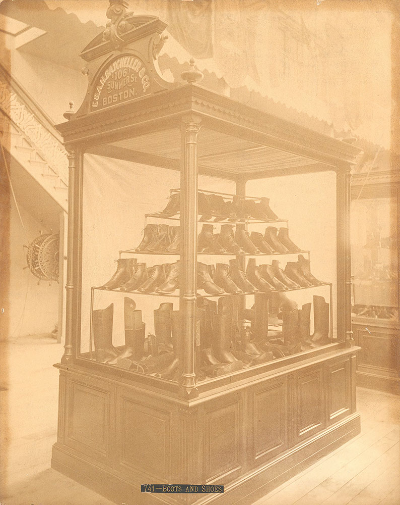B.F. Brown & Co.'s exhibit-Shoe and Leather Bldg.
