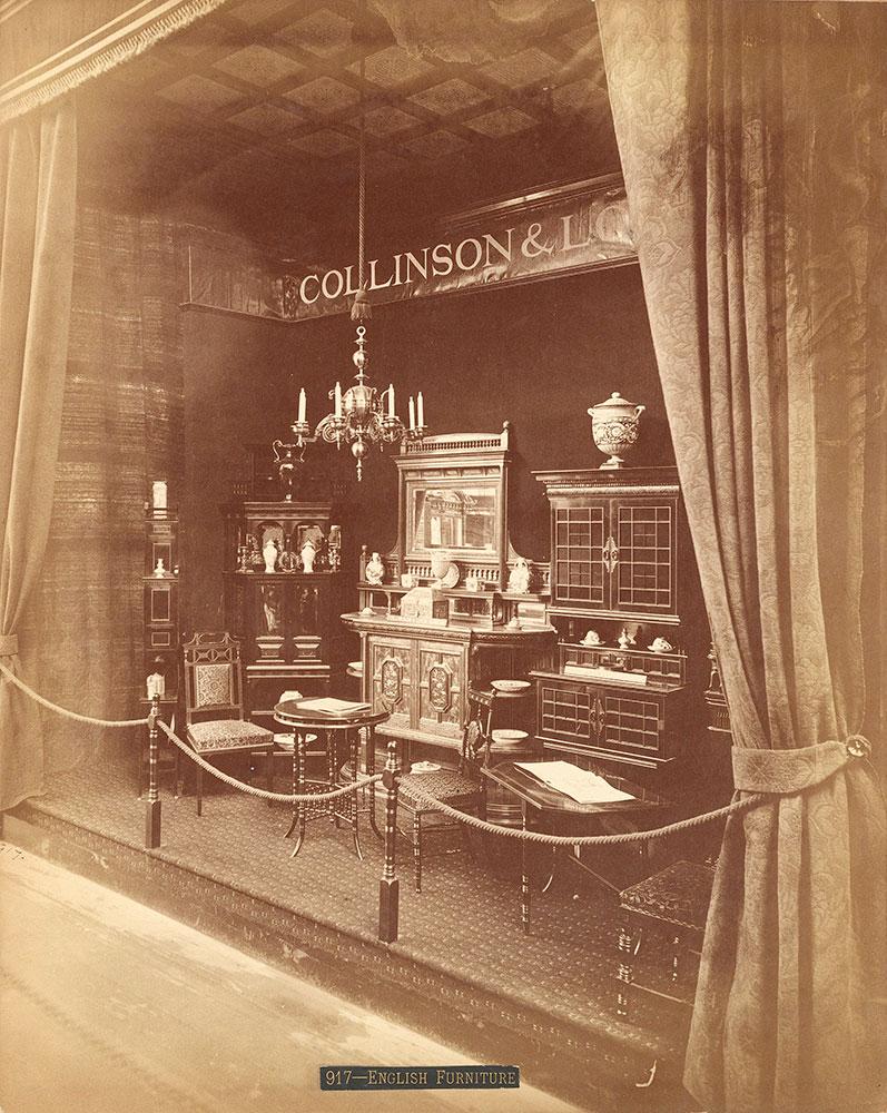 Collinson & Lock's furniture exhibit-Main Building