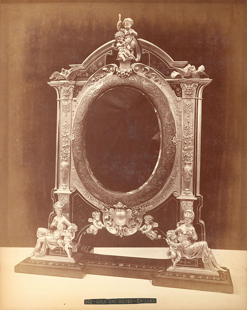 Gold and silver mirror-Elkington & Co.'s exhibit